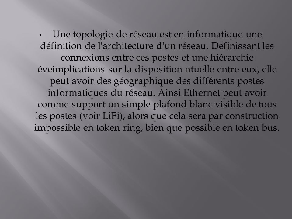 R alis par houda chahraoui ppt video online t l charger for Definition architecture reseau
