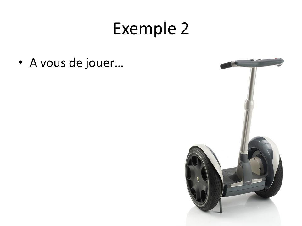 Exemple 2 A vous de jouer…
