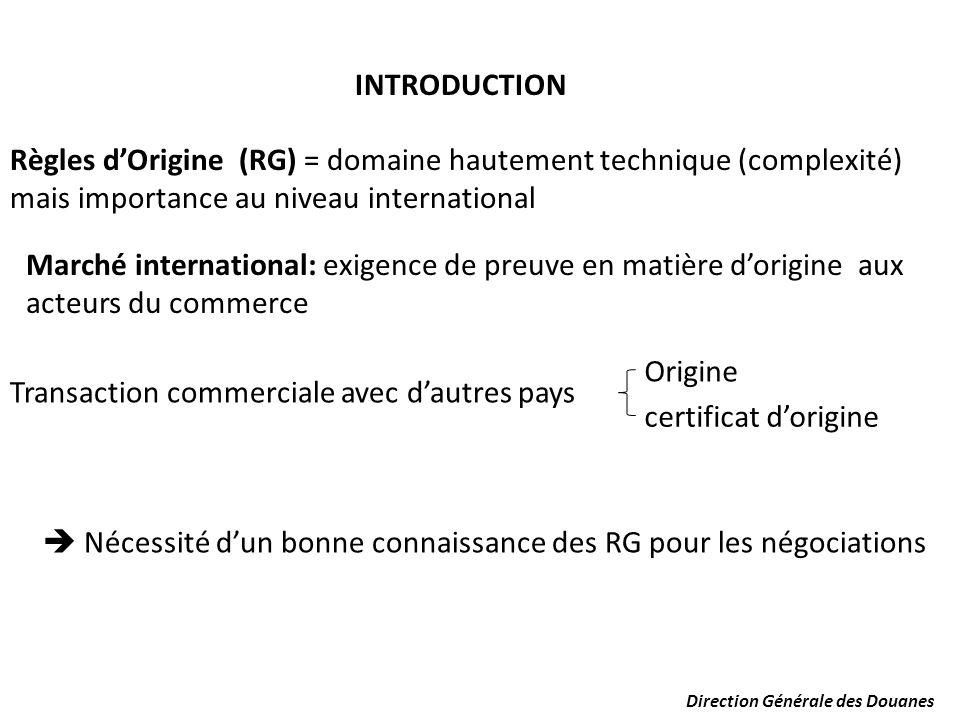 Theme la maitrise des r gles d origine en vue d en tirer - Certificat d origine chambre de commerce ...