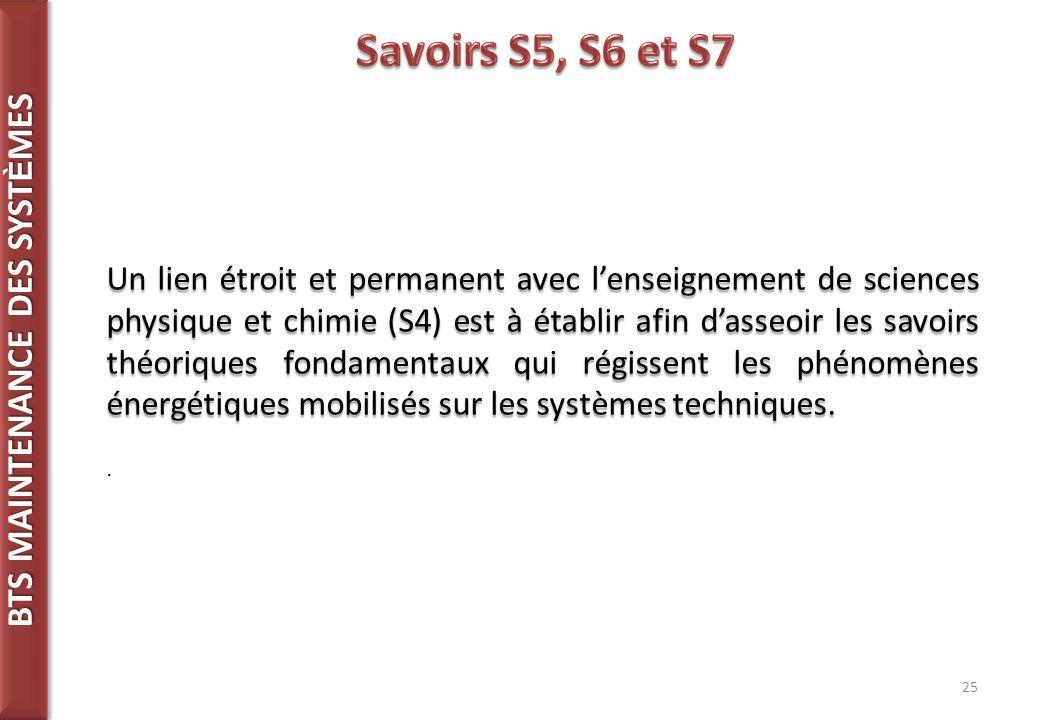 Savoirs S5, S6 et S7