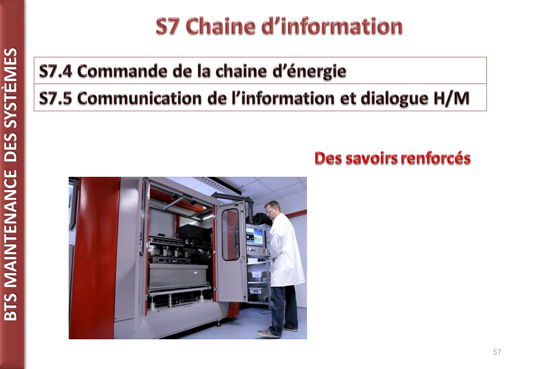 S7 Chaine d'information