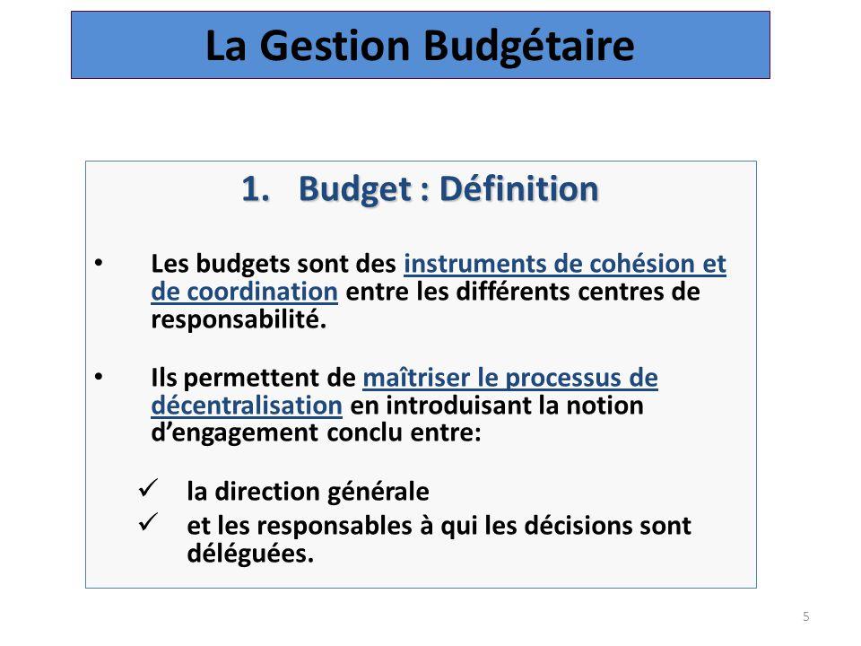 La Gestion Budgétaire Budget : Définition