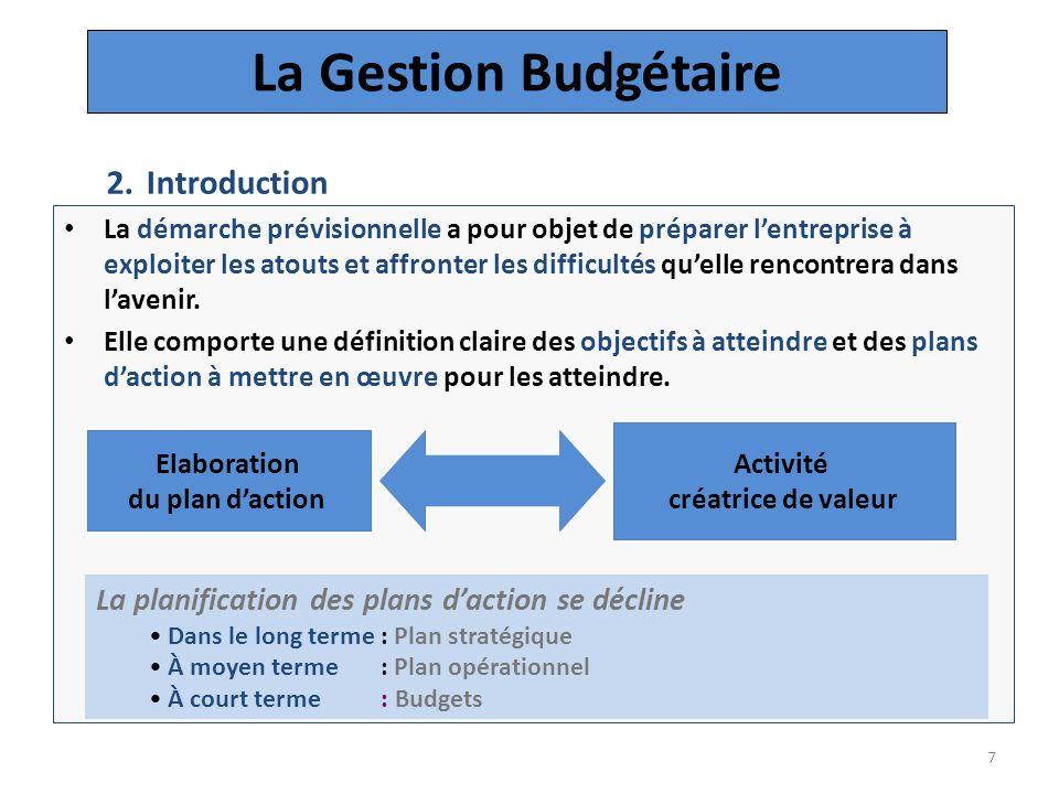 La Gestion Budgétaire Introduction