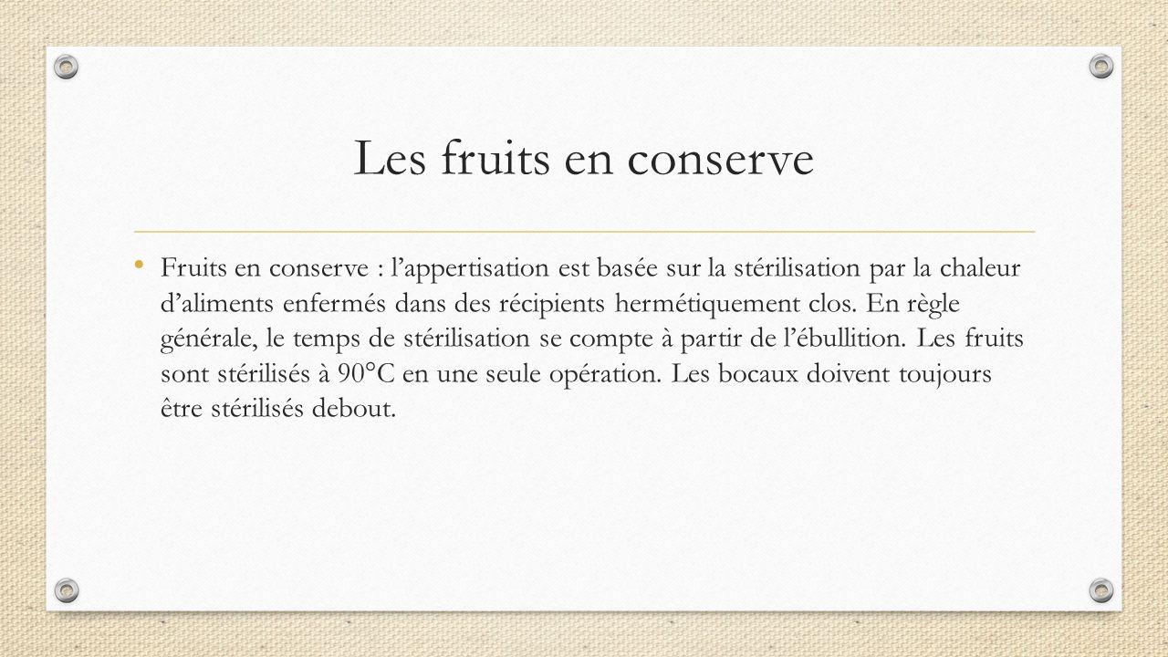 Denis hauchard cfar campus d avignon ppt video online t l charger - Conserve de fruits sans sterilisation ...