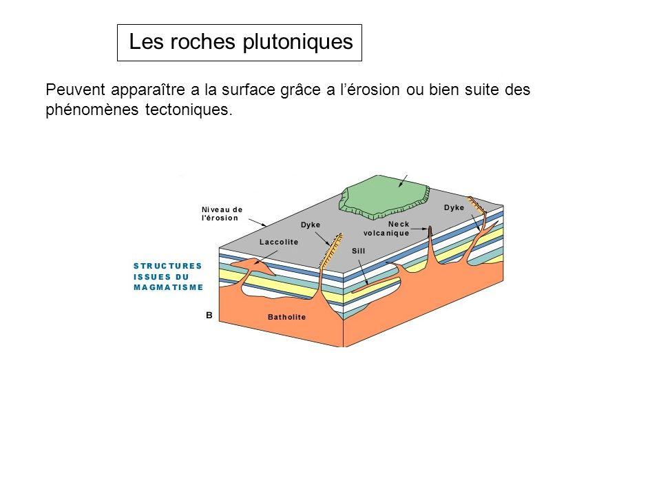 Les roches plutoniques