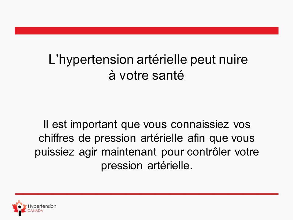 L'hypertension artérielle peut nuire à votre santé