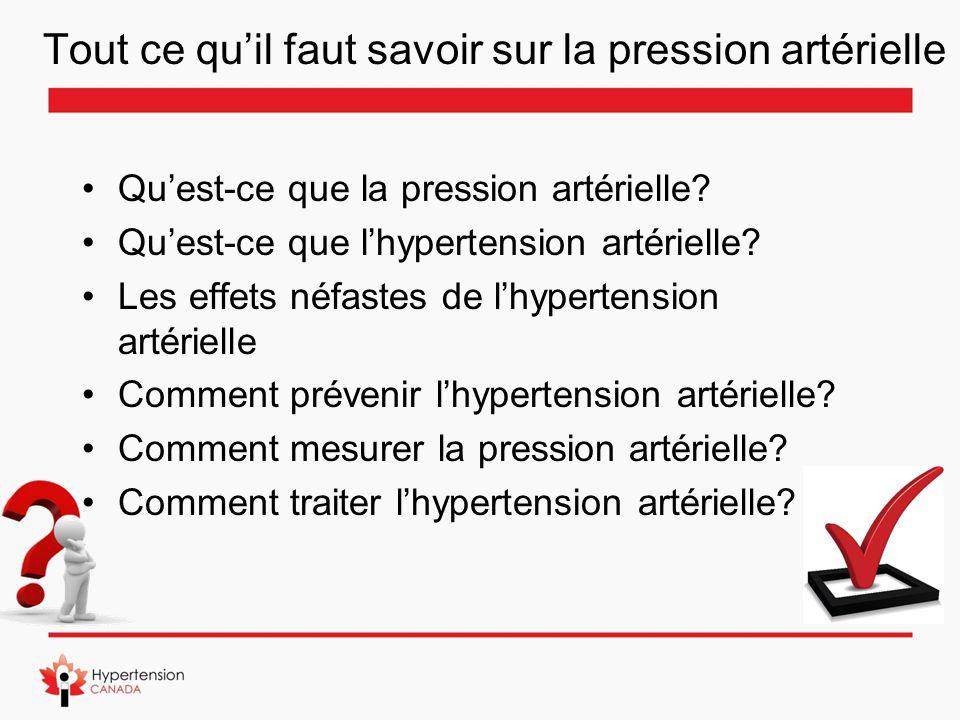 Tout ce qu'il faut savoir sur la pression artérielle