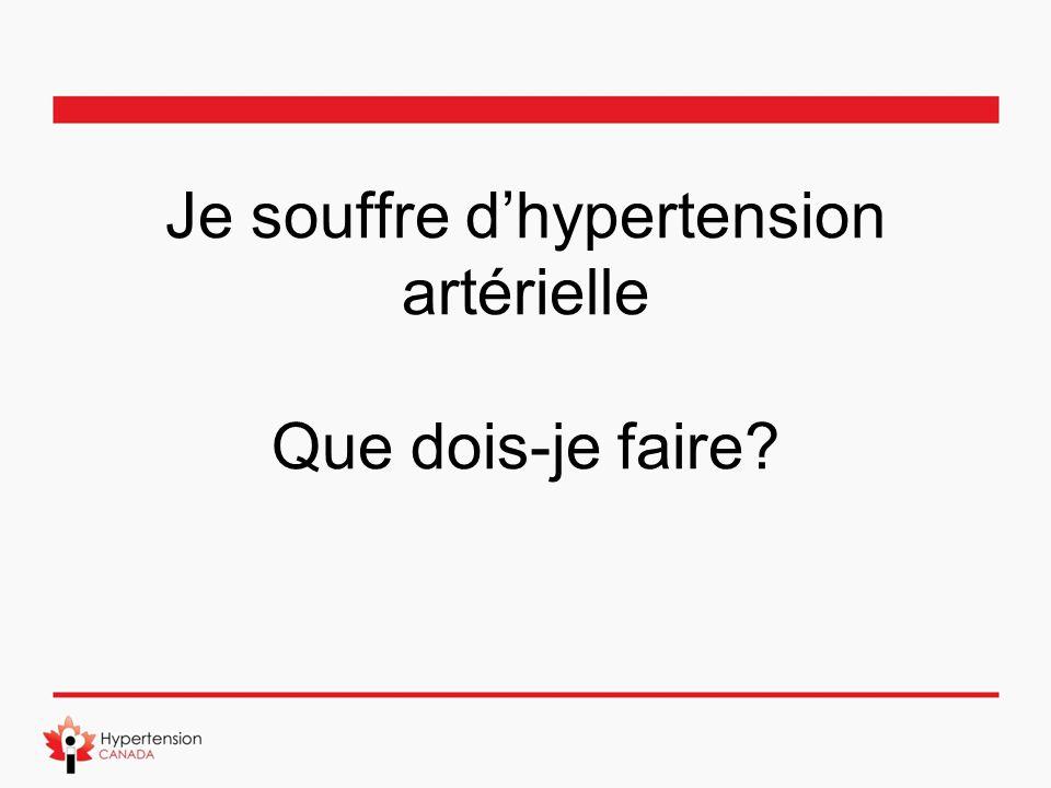 Je souffre d'hypertension artérielle Que dois-je faire