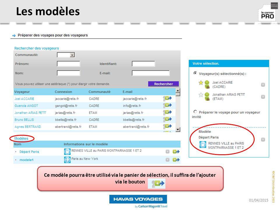 Les modèles Ce modèle pourra être utilisé via le panier de sélection, il suffira de l'ajouter via le bouton.