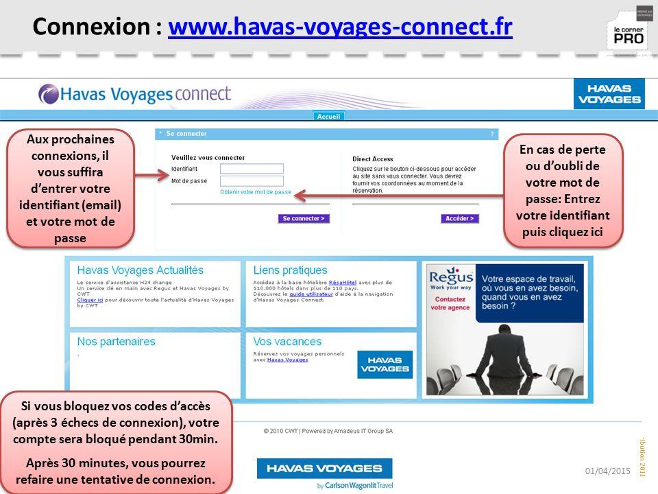 Connexion : www.havas-voyages-connect.fr