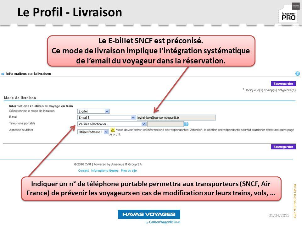 Le E-billet SNCF est préconisé.