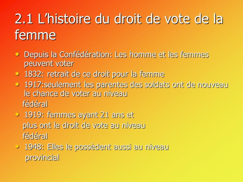 l exercice du droit de vote au canada ppt video online t l charger. Black Bedroom Furniture Sets. Home Design Ideas