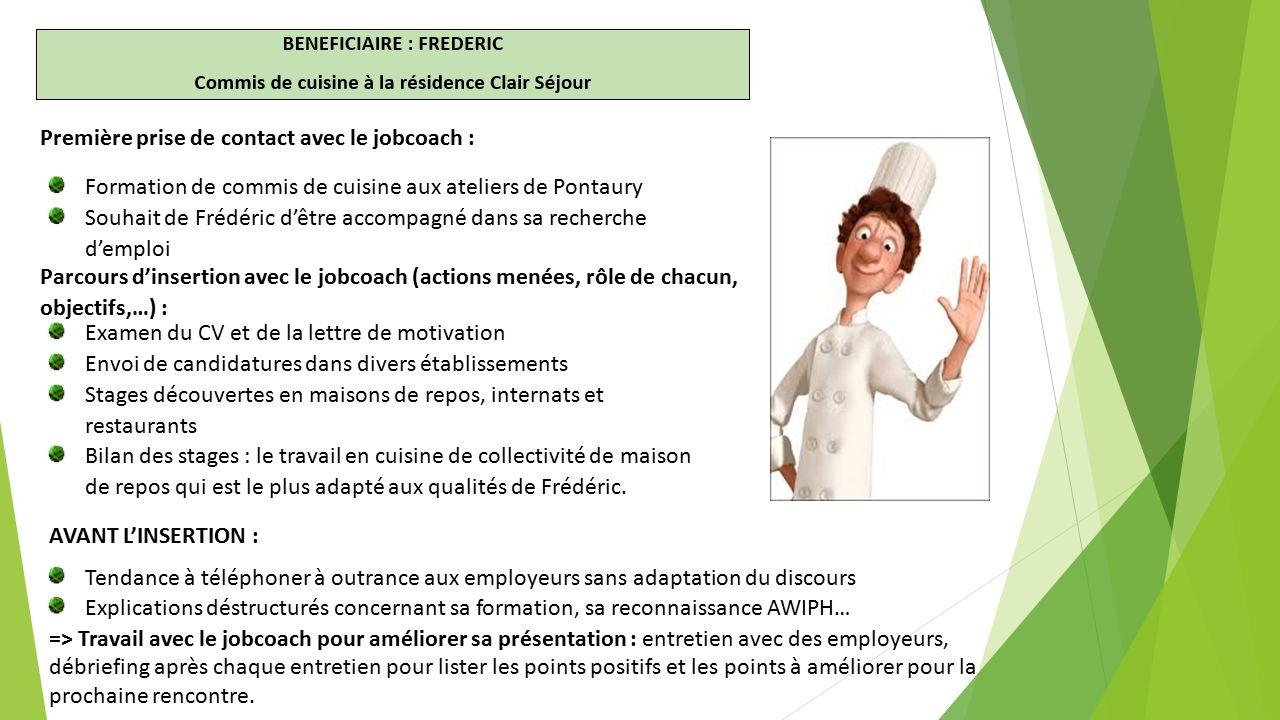 Le jobcoaching des personnes en situation de handicap for Offre d emploi commis de cuisine paris