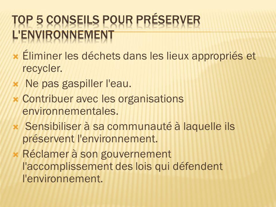 Top 5 Conseils pour préserver l environnement