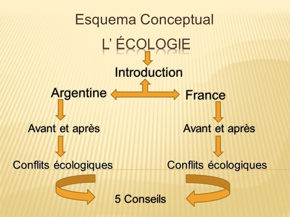 Esquema Conceptual L' Écologie Introduction Argentine France