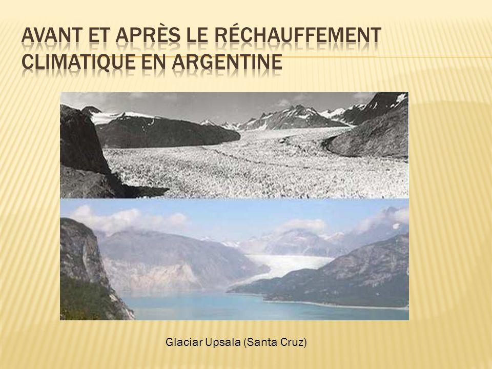 Avant et après le réchauffement climatique en Argentine