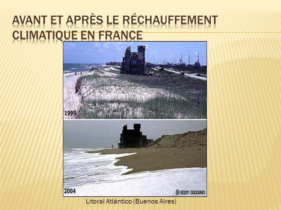 Avant et après le réchauffement climatique en France