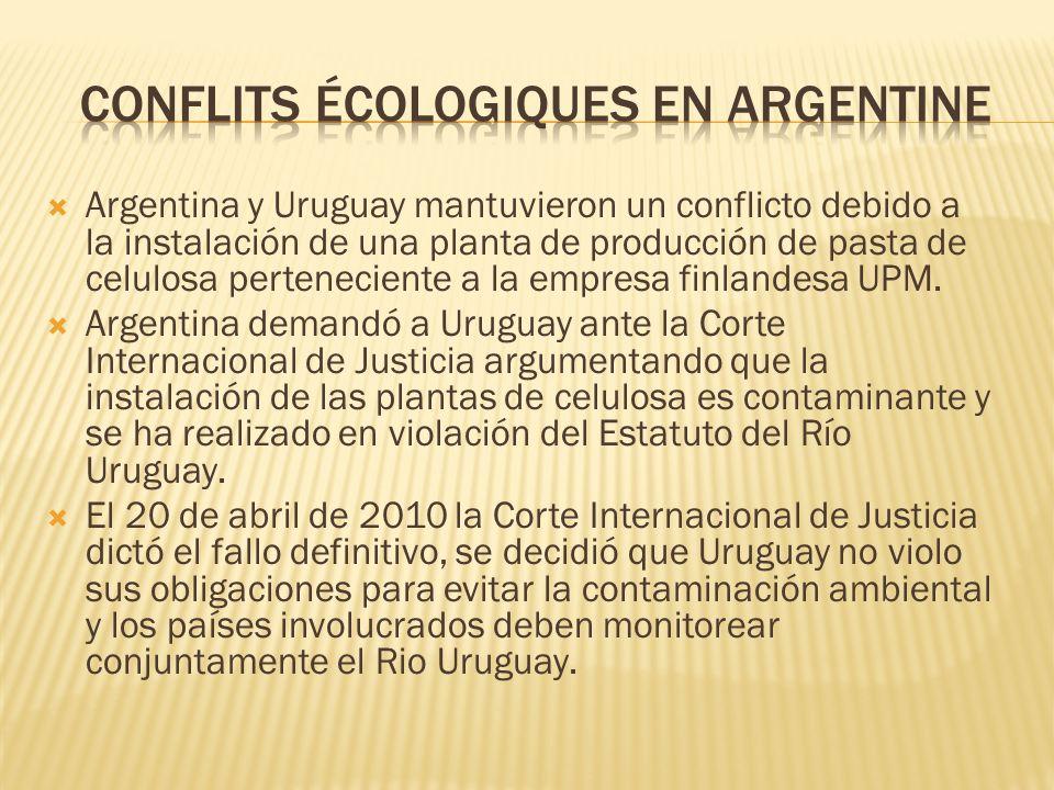 Conflits écologiques en Argentine
