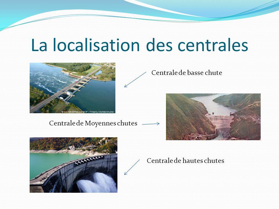 La localisation des centrales