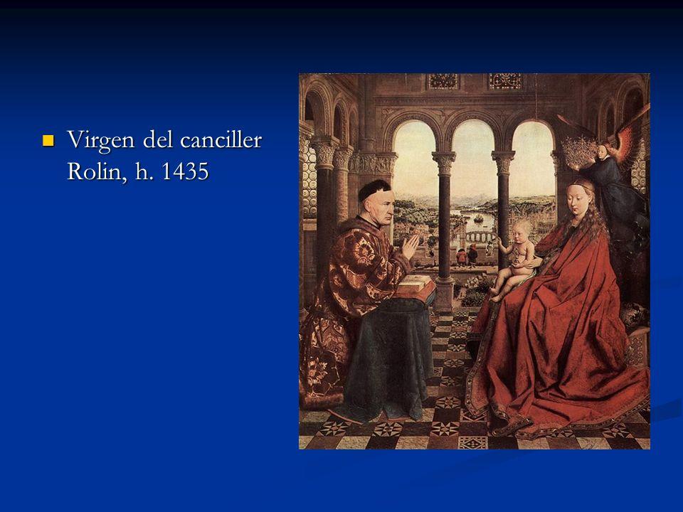 Virgen del canciller Rolin, h. 1435