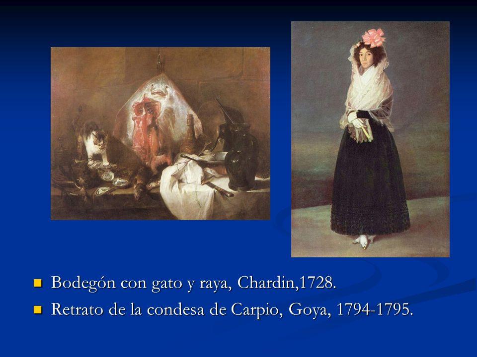 Bodegón con gato y raya, Chardin,1728.