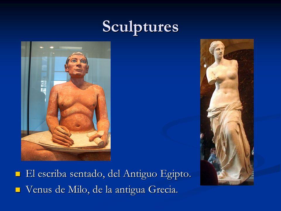 Sculptures El escriba sentado, del Antiguo Egipto.