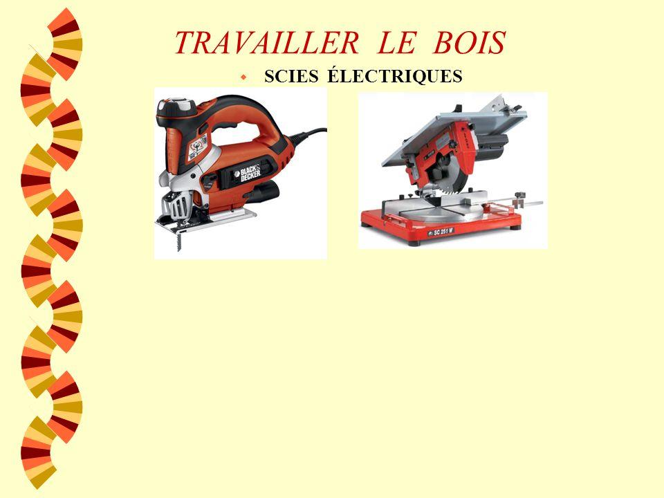 TRAVAILLER LE BOIS SCIES ÉLECTRIQUES