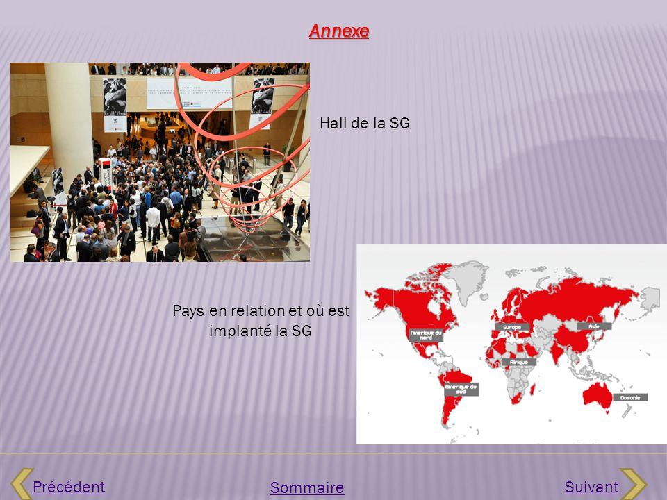 Pays en relation et où est implanté la SG