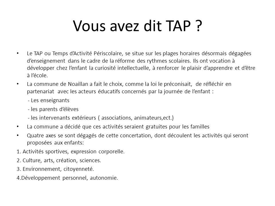 Vous avez dit TAP
