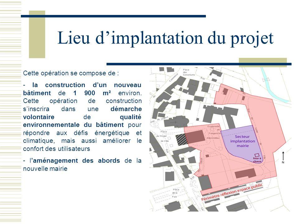 Lieu d'implantation du projet