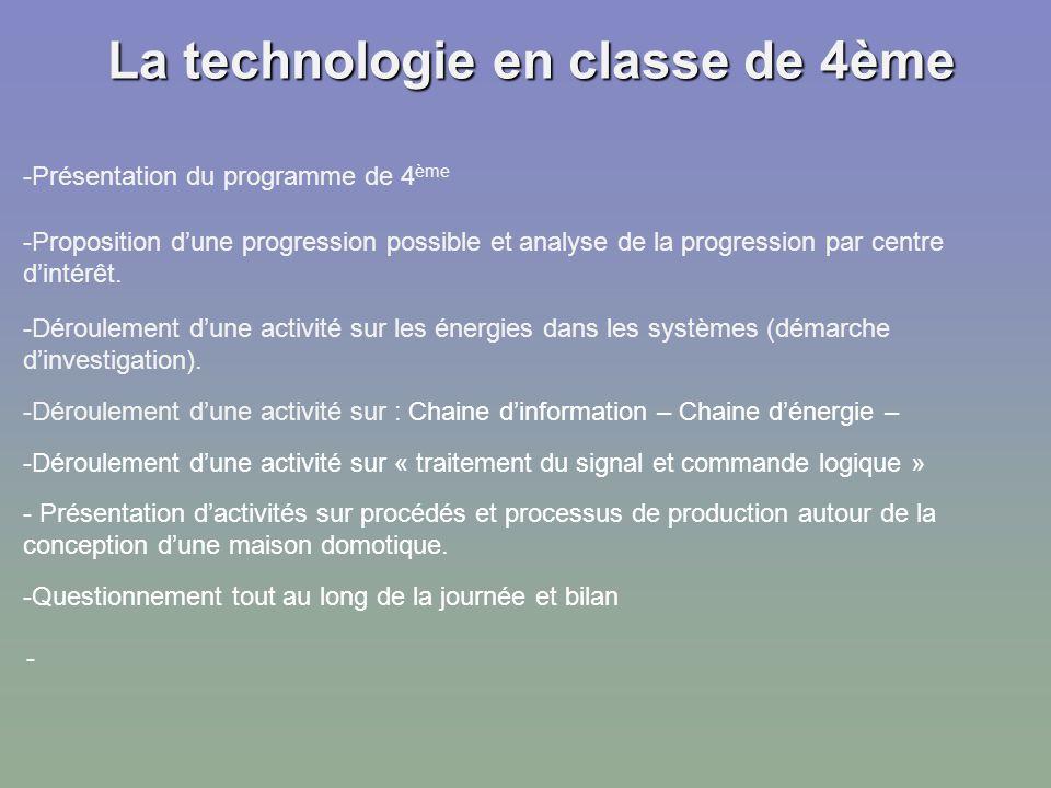 la technologie en classe de 4me - Classe D Energie D Une Maison