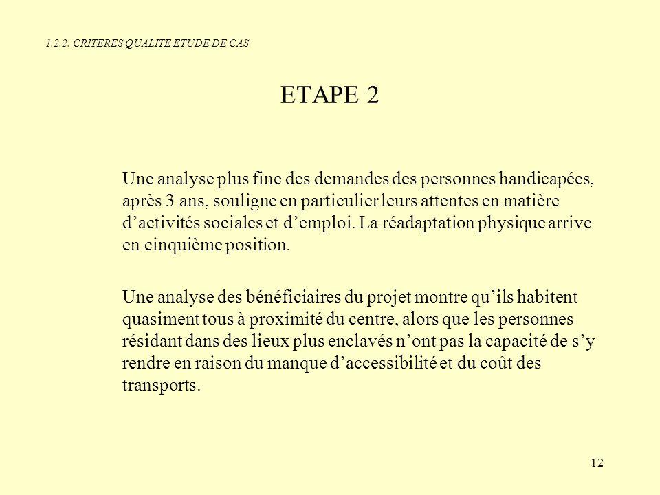 1.2.2. CRITERES QUALITE ETUDE DE CAS