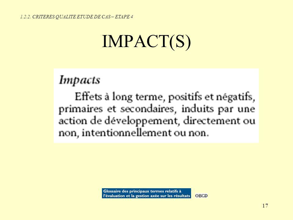 1.2.2. CRITERES QUALITE ETUDE DE CAS – ETAPE 4