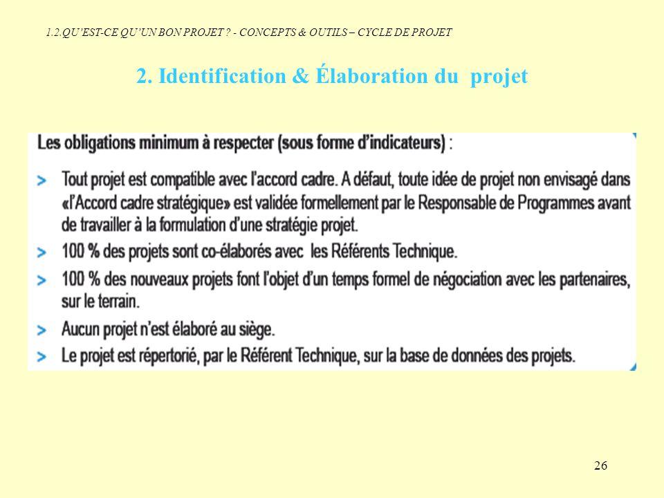 2. Identification & Élaboration du projet