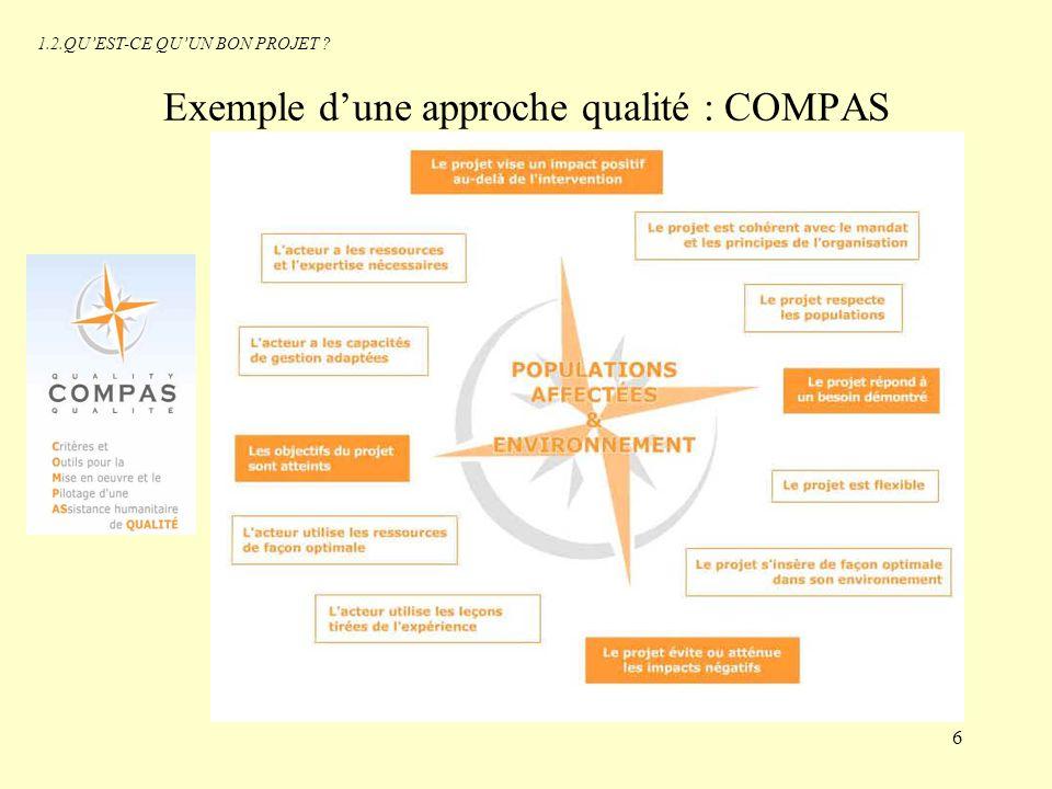 Exemple d'une approche qualité : COMPAS