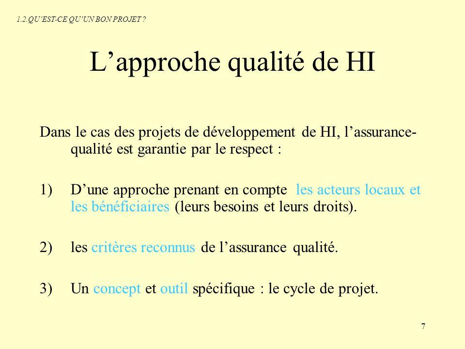 L'approche qualité de HI
