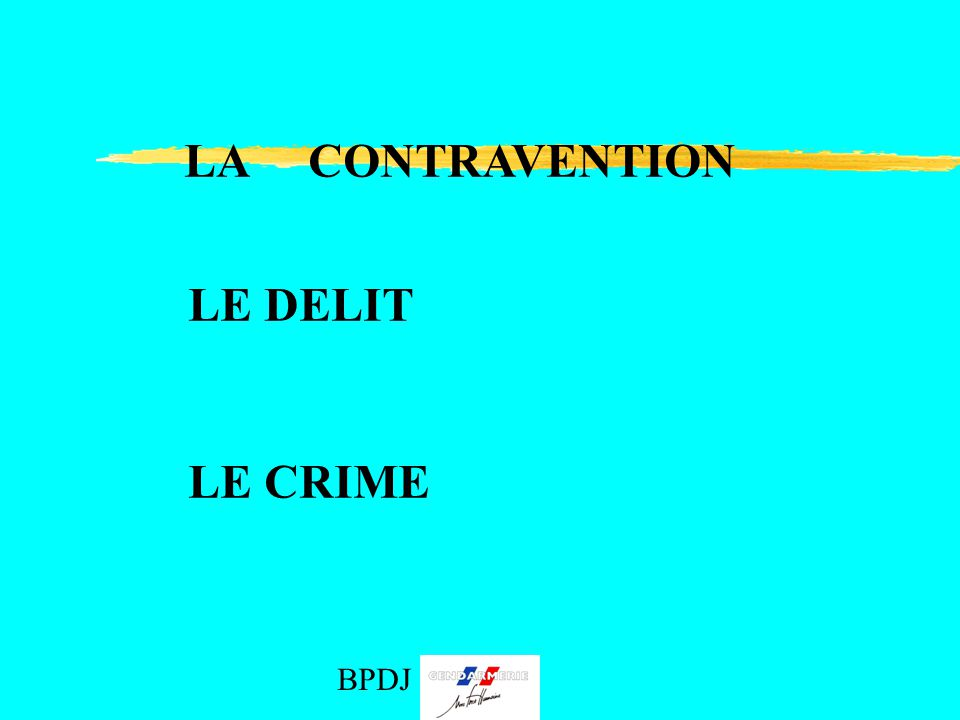 Droits et devoirs b p d j 971 bpdj ppt video online for Definition delit