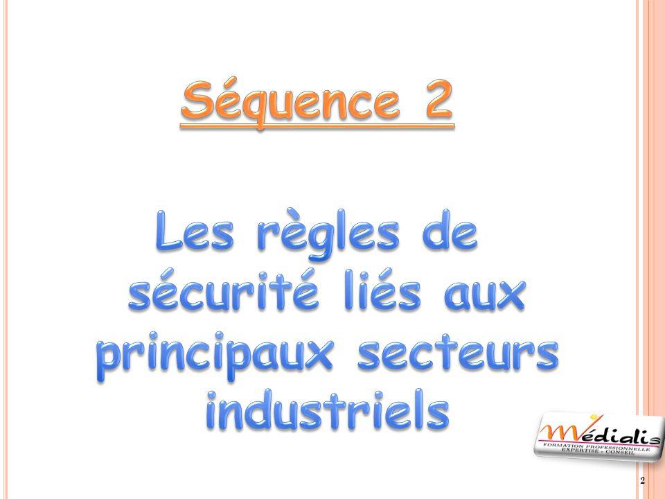 Les règles de sécurité liés aux principaux secteurs industriels