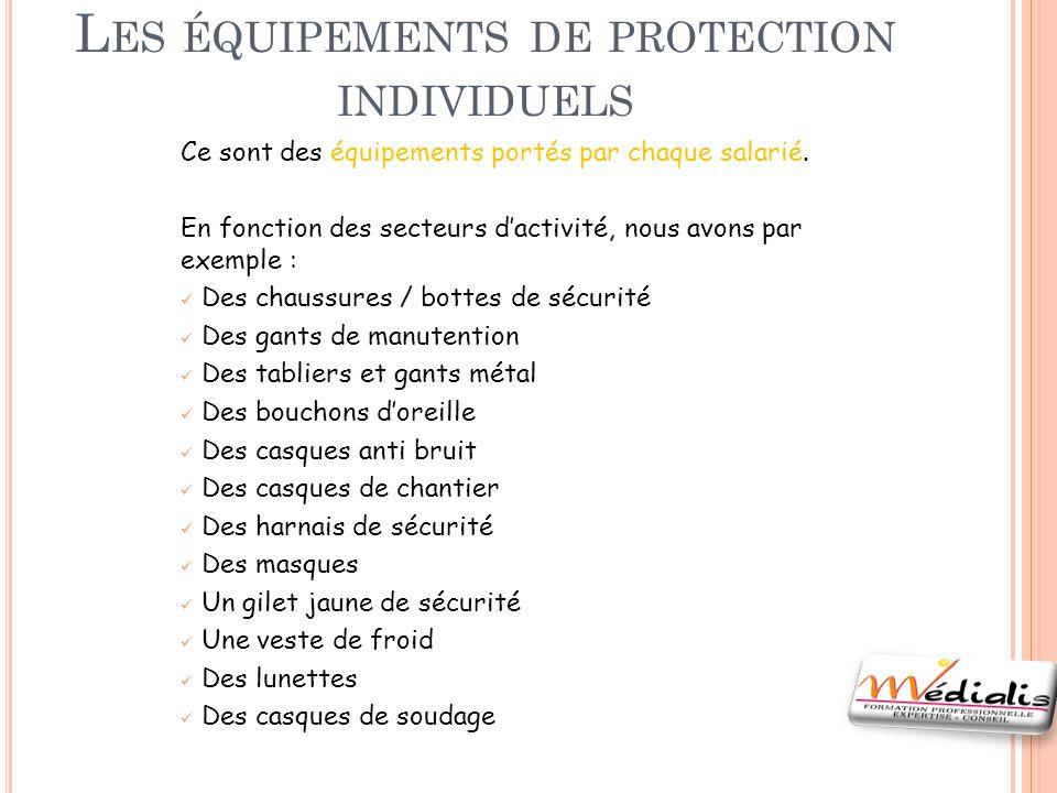 Les équipements de protection individuels