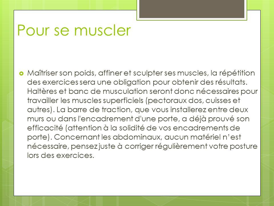 Maigrir avec la musculation ppt video online t l charger - Banc de musculation plus barre et poids ...