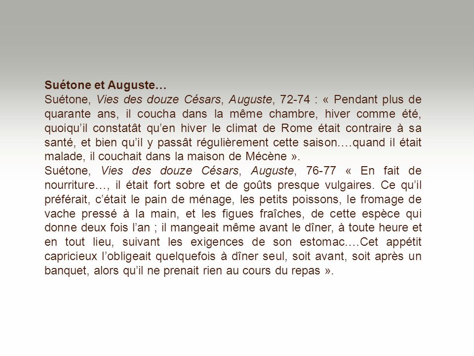 Suétone et Auguste…