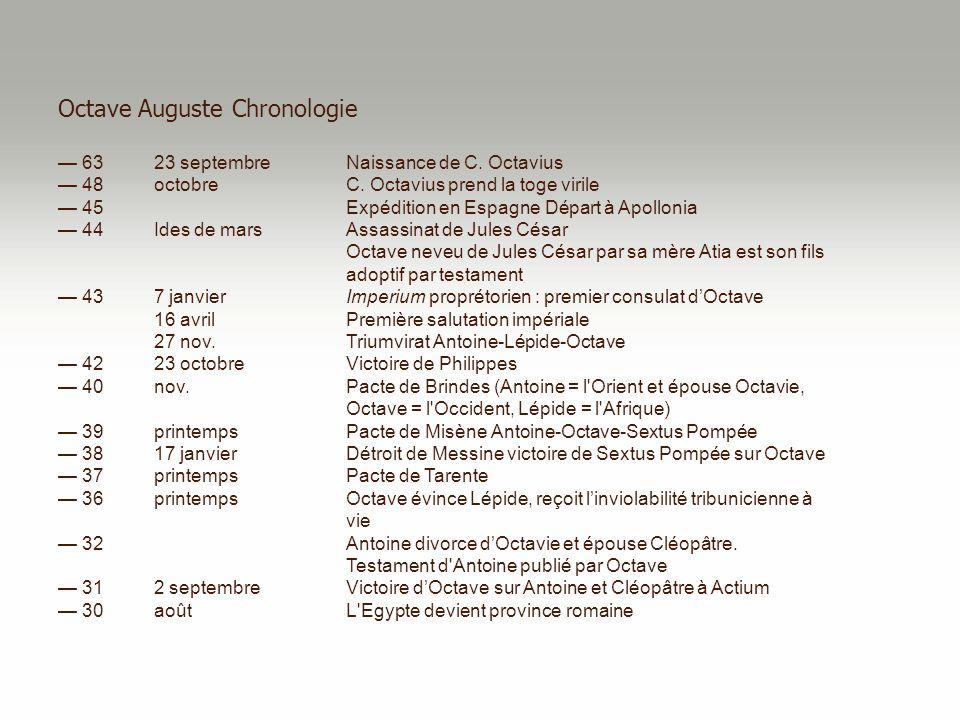 Octave Auguste Chronologie