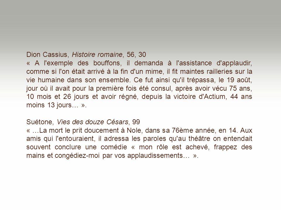 Dion Cassius, Histoire romaine, 56, 30