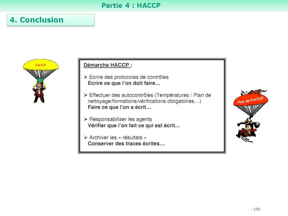 Partie 4 : HACCP 4. Conclusion