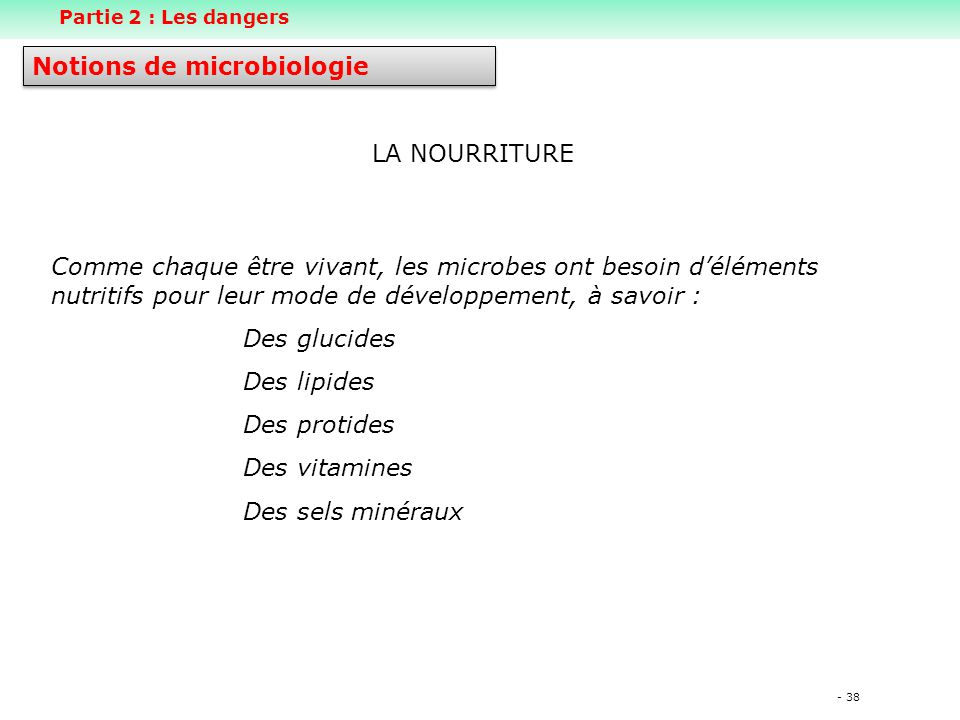 Notions de microbiologie