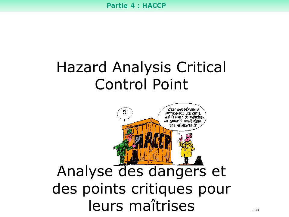 Hazard Analysis Critical Control Point