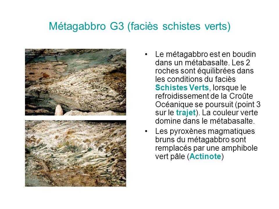 Métagabbro G3 (faciès schistes verts)