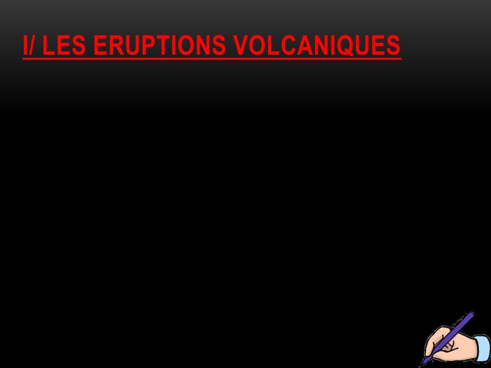 I/ LES ERUPTIONS VOLCANIQUES
