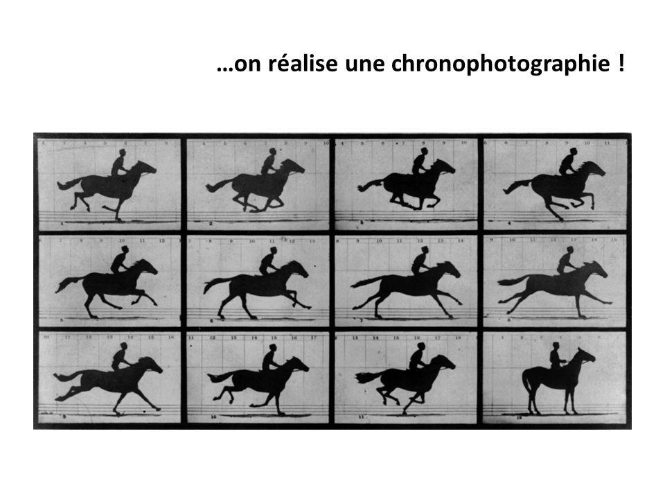 …on réalise une chronophotographie !