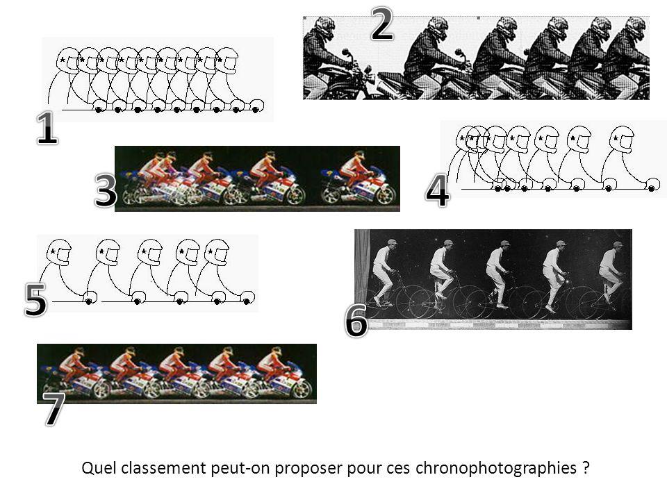 Quel classement peut-on proposer pour ces chronophotographies